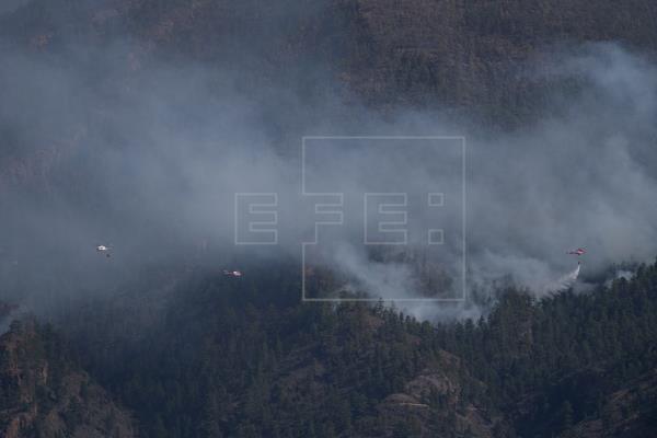 Optimismo prudente en el incendio de Tenerife, que sigue sin ser controlado