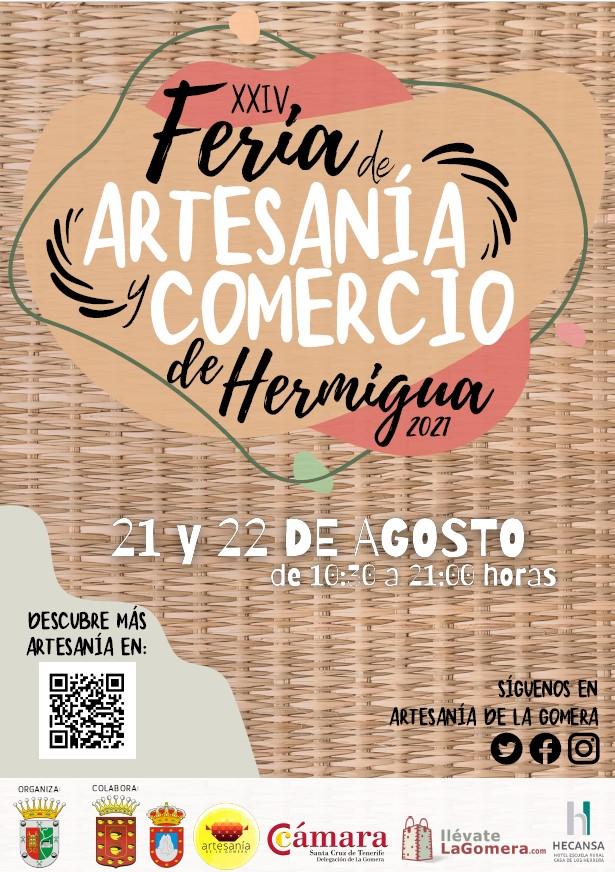 La Gomera dispone una veintena de puntos de venta artesanales en la Feria de Artesanía de Hermigua
