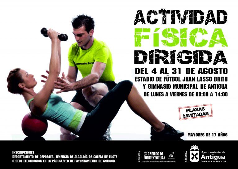 Antigua ofrece Actividad Física Dirigida gratuitamente en agosto
