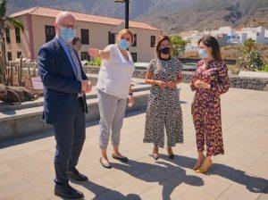 El embajador de Noruega en España visita Pirámides de Güímar con la consejera delegada de Acción Exterior y la directora insular de Turismo del Cabildo de Tenerife