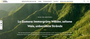 La Gomera llega a Alemania, Suiza y Austria a través de un reportaje en National Geographic